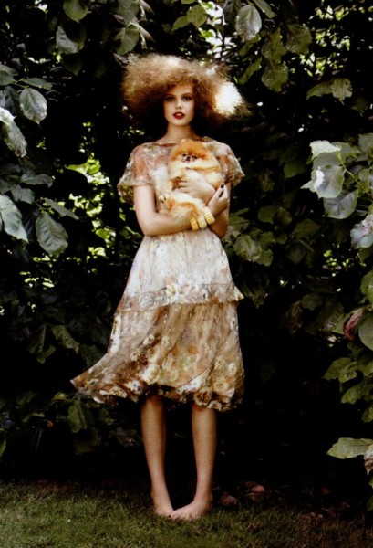 Frida Gustavsson by Patrick Demarchelier in Anything Goes | <em>Vogue US</em> November 2010