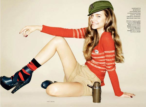 Barbara Palvin by Matt Irwin for <em>Vogue Russia</em> July 2010