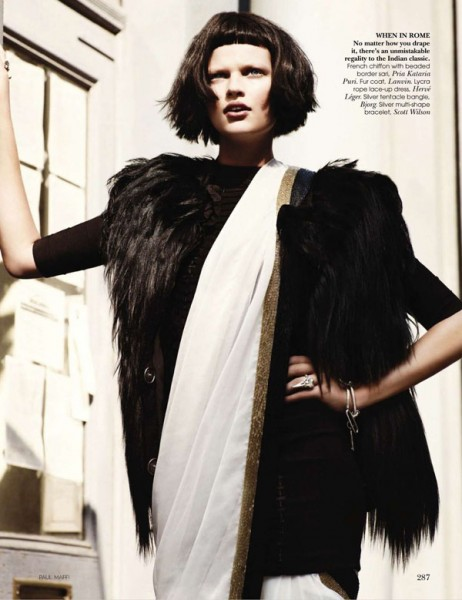 Bette Franke by Paul Maffi for <em>Vogue India</em> October 2010