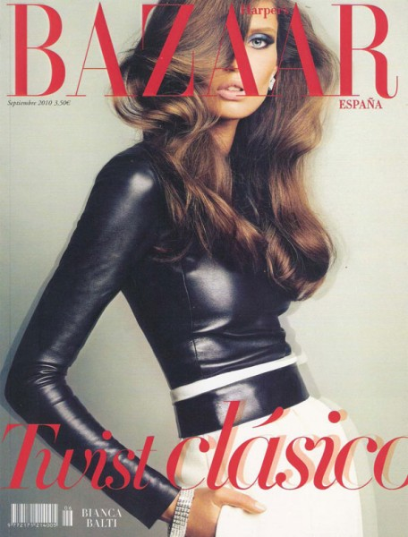 <em>Harper&#8217;s Bazaar Spain</em> September 2010 Cover | Bianca Balti by Txema Yeste