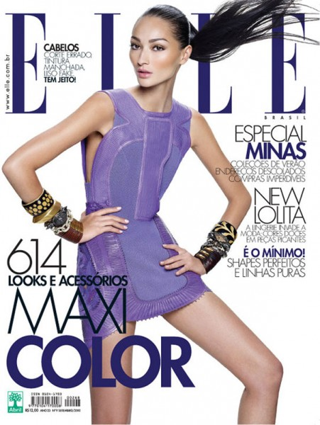 <em>Elle Brazil</em> September 2010 Cover | Bruna Tenorio by Gui Paginini
