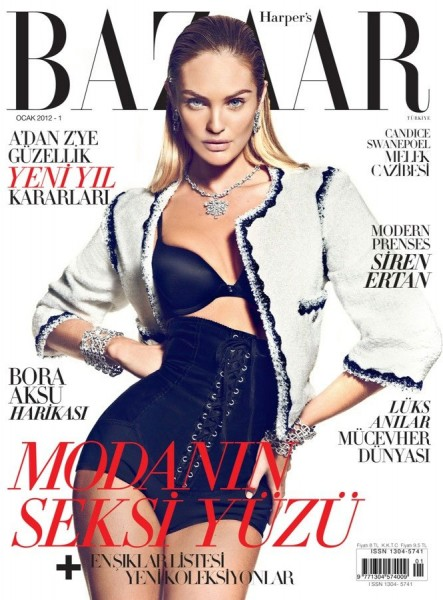 <em>Harper&#8217;s Bazaar Turkey</em> January 2012 Cover | Candice Swanepoel by Koray Birand