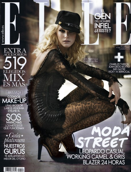 <em>Elle Spain</em> October 2010 Cover | Carmen Kass by Mario Sierra