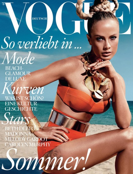 Vogue Germany June 2012 Cover | Carolyn Murphy by Alexi Lubomirski