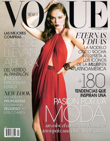 <em>Vogue Mexico</em> September 2010 Cover | Coco Rocha by Tesh