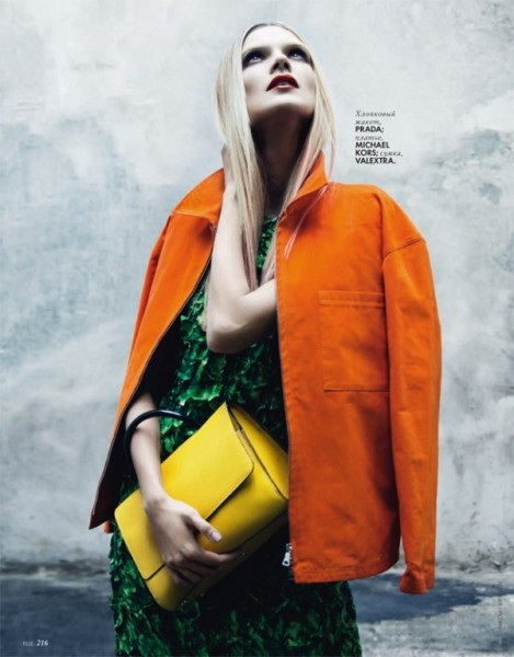 Olga Serova by Nikolay Biryukov for <em>Elle Ukraine</em> March 2011