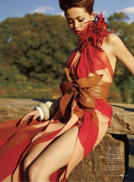Devon Aoki by Carter Smith for <em>Elle US</em> February 2011