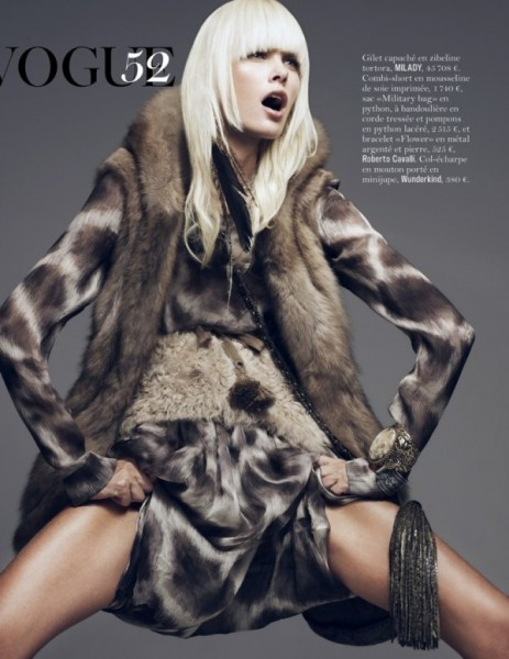 Dewi Driegen by Sharif Hamza for <em>Vogue Paris</em> November 2010