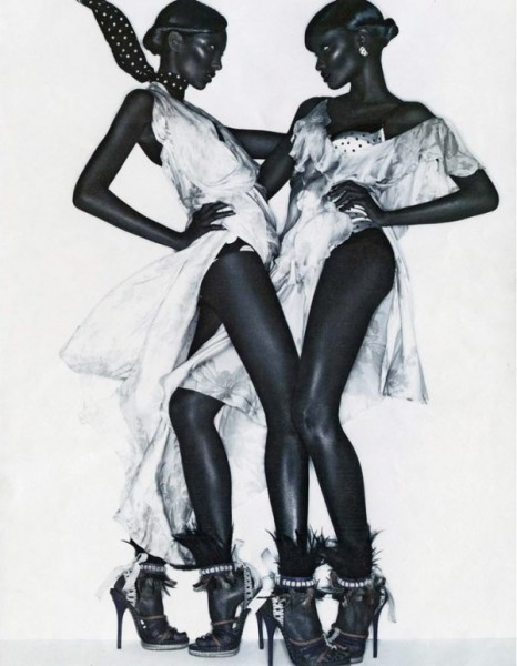 Melodie Monrose &#038; Anais Mali by Solve Sundsbo for <em>Interview</em> December 2010