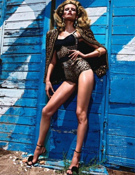 Edita Vilkeviciute by Mario Sorrenti for <em>Vogue Nippon</em> January 2011