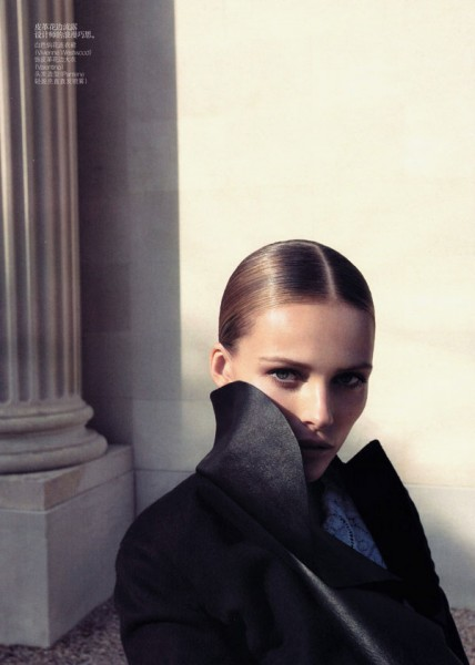 Edita Vilkeviciute by Camlla Akrans for <em>Vogue China</em> October 2010