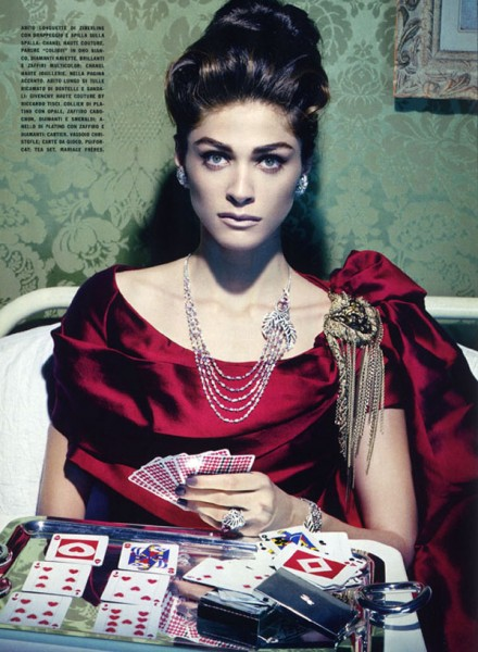 Elisa Sednaoui by Miles Aldridge for <em>Vogue Italia</em> September 2010