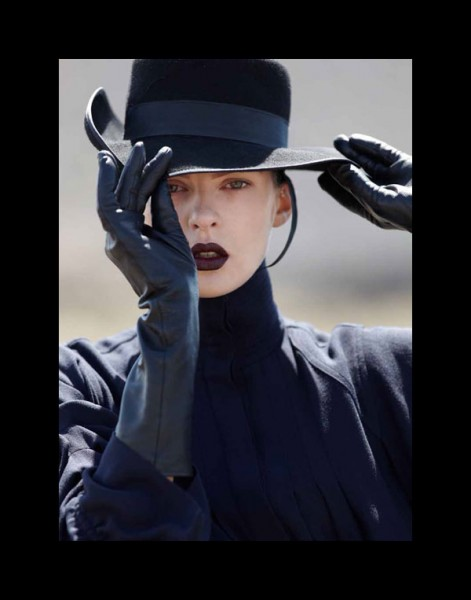 Elise Crombez by Hans Feurer for <em>Vogue Turkey</em> October 2010