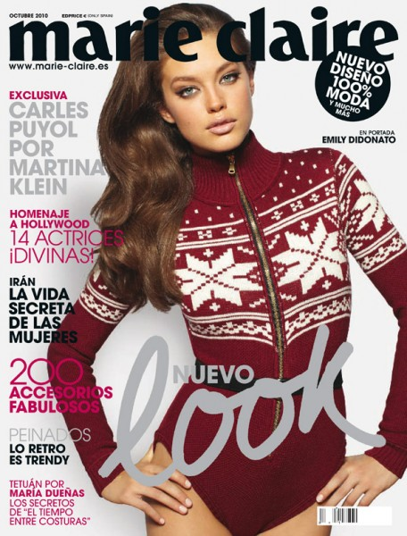 <em>Marie Claire Spain</em> October 2010 Cover | Emily DiDonato by David Roemer