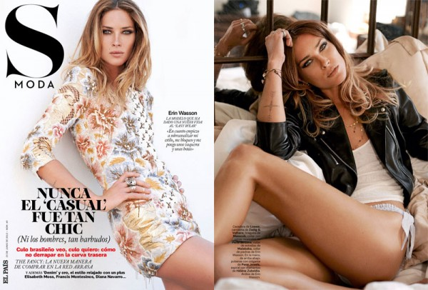 Erin Wasson is Casual Chic for S Moda's June Cover Story, Shot by Eric Guillemain