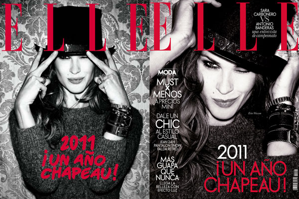 <em>Elle Spain</em> January 2011 Cover | Erin Wasson by Santiago Esteban