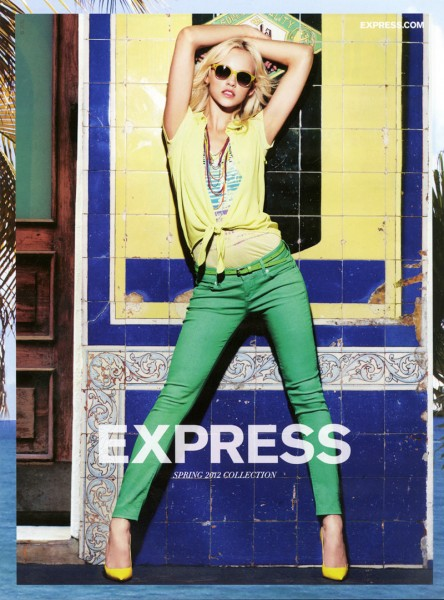 Ginta Lapina for Express Spring 2012 Campaign by Simon Cave