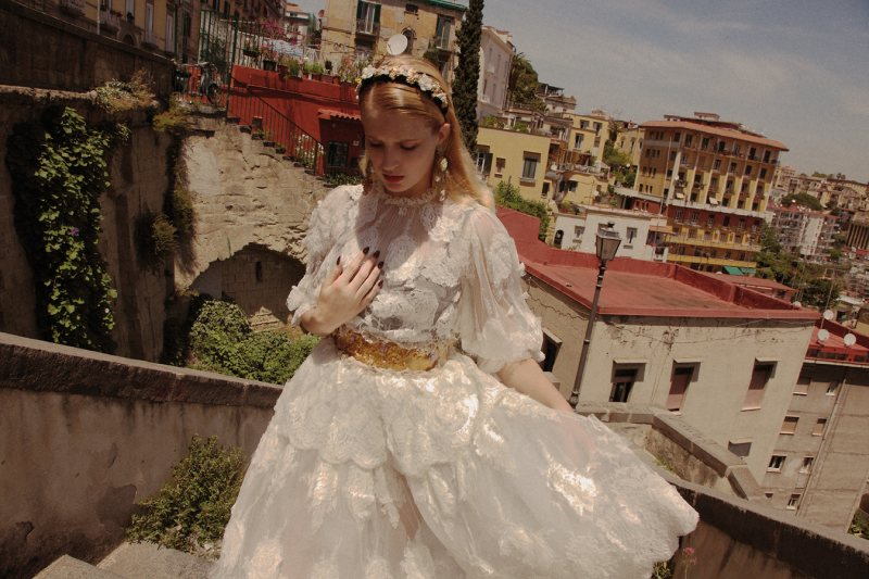 Fanny François Explores Naples in Italian Fashions for Grazia Germany #36