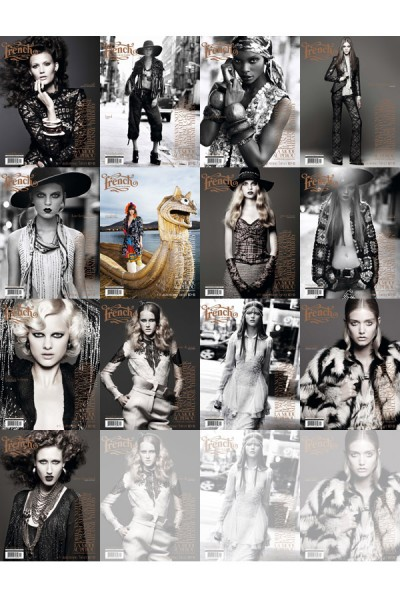 <em>French Revue de Modes</em> Fall / Winter 2010 Covers | 13 Models by Thierry Le Gouès