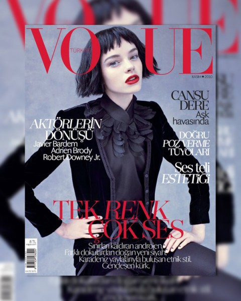 <em>Vogue Turkey</em> November 2010 Cover | Gwen Loos by Mariano Vivanco