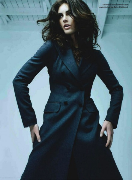 Hilary Rhoda for <em>Elle Canada</em> October 2010 by Leda &#038; St. Jacques