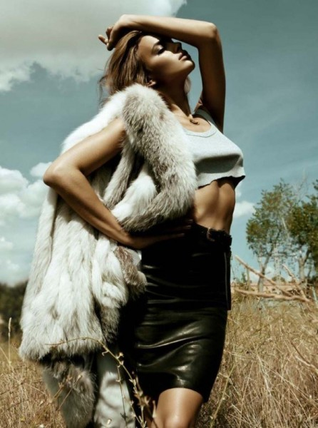 Irina Shayk by Santiago Esteban for <em>Elle Spain</em> November 2010
