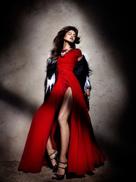 Irina Shayk by Santiago Esteban for <em>Elle Spain</em> December 2011