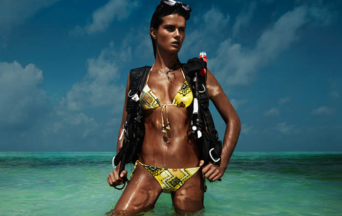 Isabeli Fontana for H&M Beach Sensation Summer 2012 Campaign