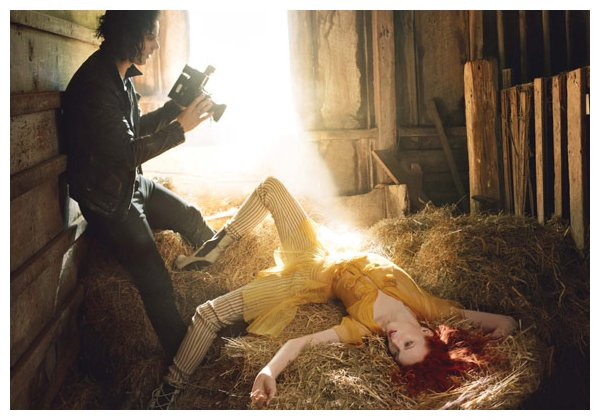 Karen Elson &#038; Jack White for <em>Vogue US</em> June 2010 by Annie Leibovitz
