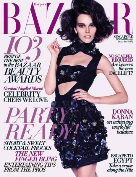 <em>Harper&#8217;s Bazaar Singapore</em> November 2010 Cover | Julia Valimaki