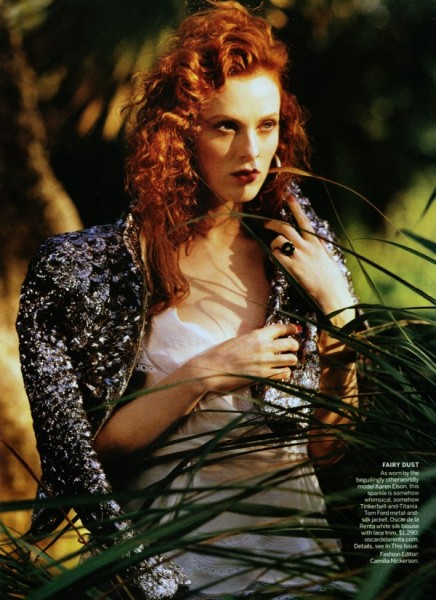 Karen Elson by Bruce Weber for <em>Vogue US</em> March 2011