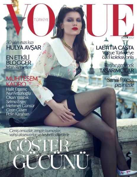 Laetitia Casta Shows Some Leg on Vogue Turkey's October 2012 Cover by Sean & Seng