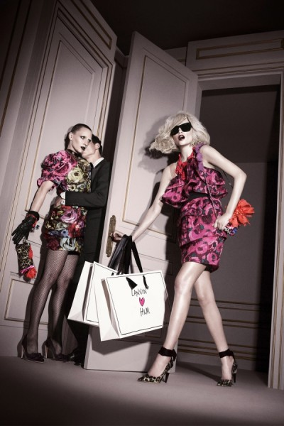 Lanvin for H&M Fall 2010 Campaign Preview | Natasha Poly & Hannelore Knuts by David Sims