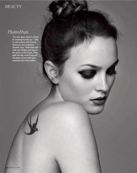 Leighton Meester by Christophe Meimoon for <em>Marie Claire UK</em> December 2010