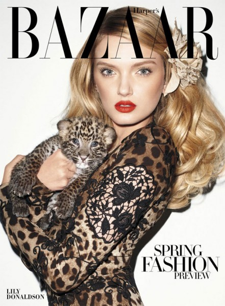 Lily Donaldson for <em>Harper&#8217;s Bazaar US</em> January 2011 by Terry Richardson
