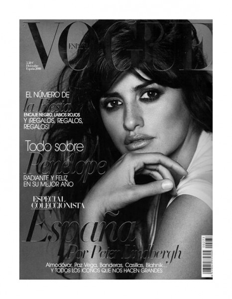 Penelope Cruz for <em>Vogue Spain</em> December 2010 by Peter Lindbergh