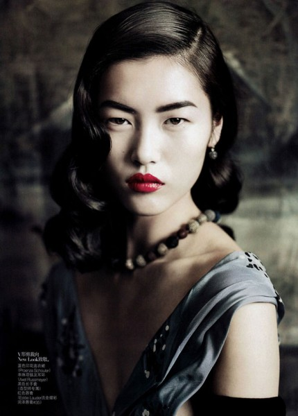 Liu Wen for <em>Vogue China</em> September 2010 by Paolo Roversi