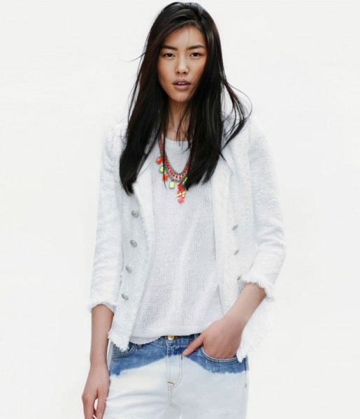 Liu Wen for Zara April 2012 Lookbook