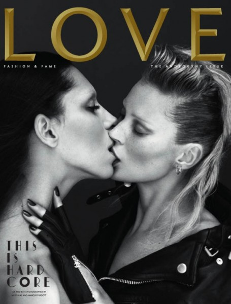 <em>LOVE</em> Spring/Summer 2011 Cover | Kate Moss &#038; Lea T. by Mert &#038; Marcus