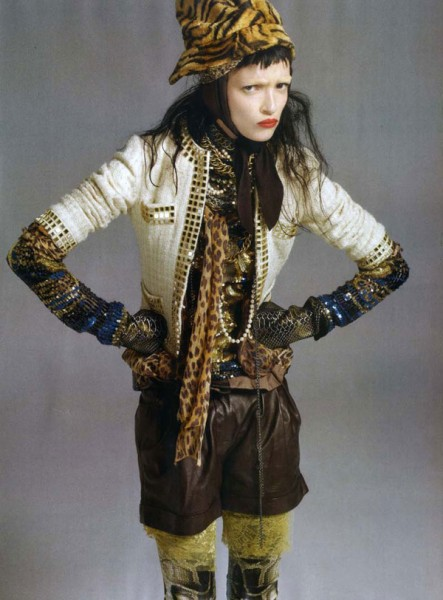 Mariacarla Boscono for <em>Vogue Italia</em> October 2010 by Steven Meisel