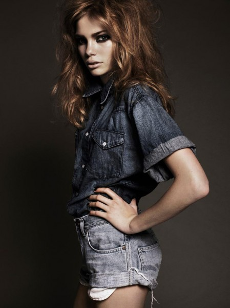 Fresh Face Marlies Dons Denim for Fredrik Wannerstedt's Images