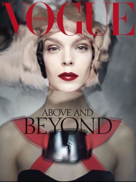 Meghan Collison Covers Vogue Italia's October 2012 Issue
