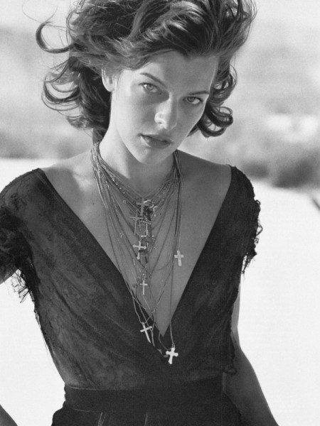 Morning Beauty | Milla Jovovich by Peter Lindbergh