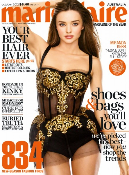 Miranda Kerr Shines in Dolce & Gabbana for Marie Claire Australia's October 2012 Cover