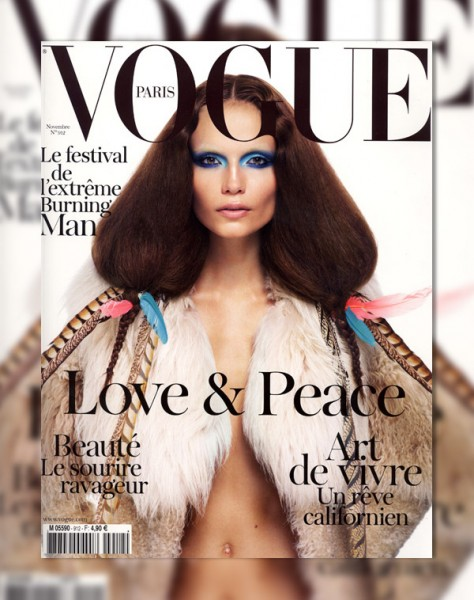 <em>Vogue Paris</em> November 2010 Cover | Natasha Poly by Mario Sorrenti