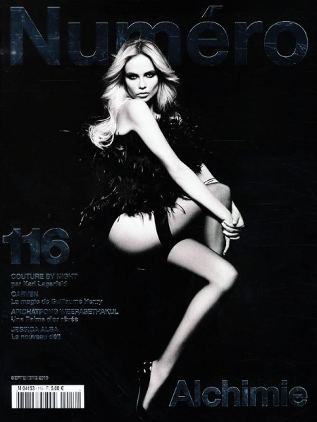<em>Numéro</em> #116 September 2010 Cover | Natasha Poly by Karl Lagerfeld