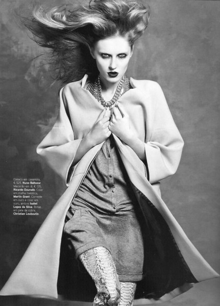 Olga Sherer for <em>Vogue Portugal</em> September 2010 by Bojana Tatarska