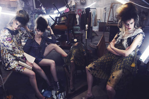 Egle, Daria &#038; Anne-Marie by Phil Poynter for <em>Vogue Italia</em> August 2010
