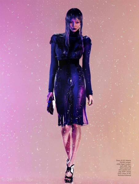 John-Paul Pietrus Captures Purple Rain for Stylist Magazine A/W 2012