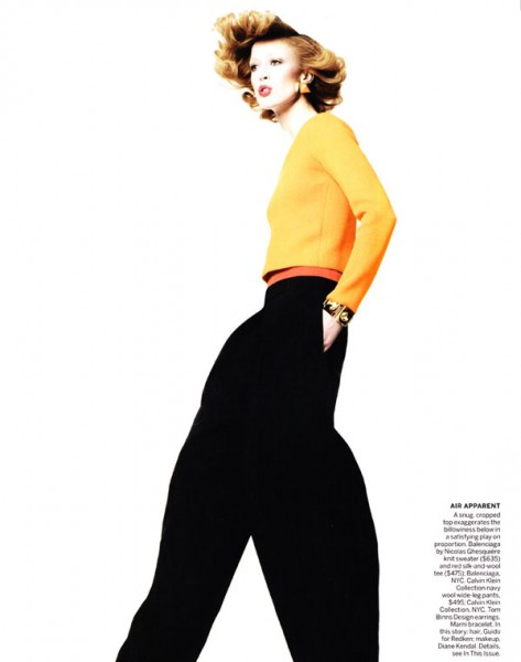 Raquel Zimmermann by David Sims for <em>Vogue US</em> January 2011